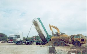 Photograph of aggregates supplied to Runway II, Manchester Airport